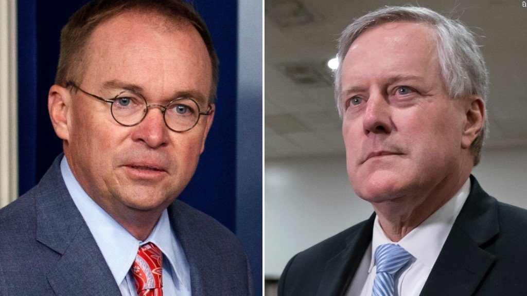 Trump replaces Mick Mulvaney with Mark Meadows as chief of staff