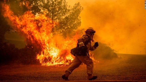 White House can't -- or won't -- explain Trump's wildfire tweets