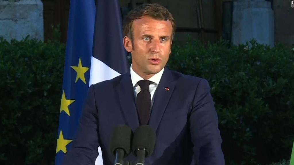 Chants of 'revolution' in Beirut as France's Macron is mobbed by angry crowds