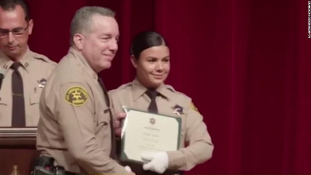 Los Angeles deputy saved her partner's life after Compton shooting while bleeding from a wound to her face