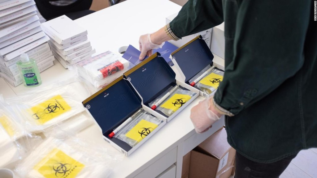 It's not easy to get a coronavirus test in the UK, so Britons are turning to mail-order kits