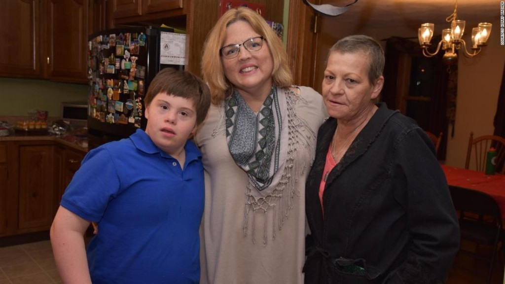 A teacher is raising a former student with Down syndrome after his mom died of cancer
