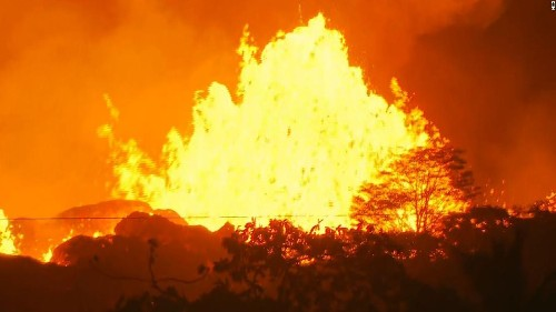 Hawaii lava finally reaches the Pacific -- only to create another deadly danger