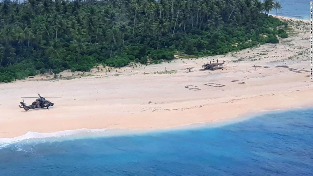 'SOS' in the sand saves Pacific mariners