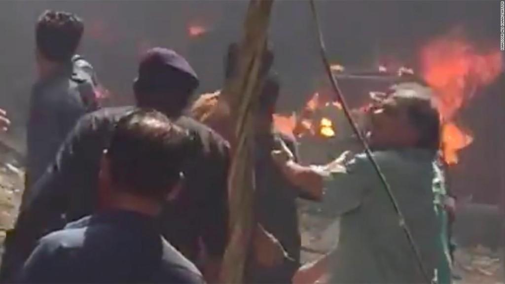 Dozens killed as Pakistani airliner crashes in Karachi