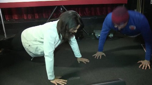 A man challenged Tulsi Gabbard to a push-up contest. He lost.