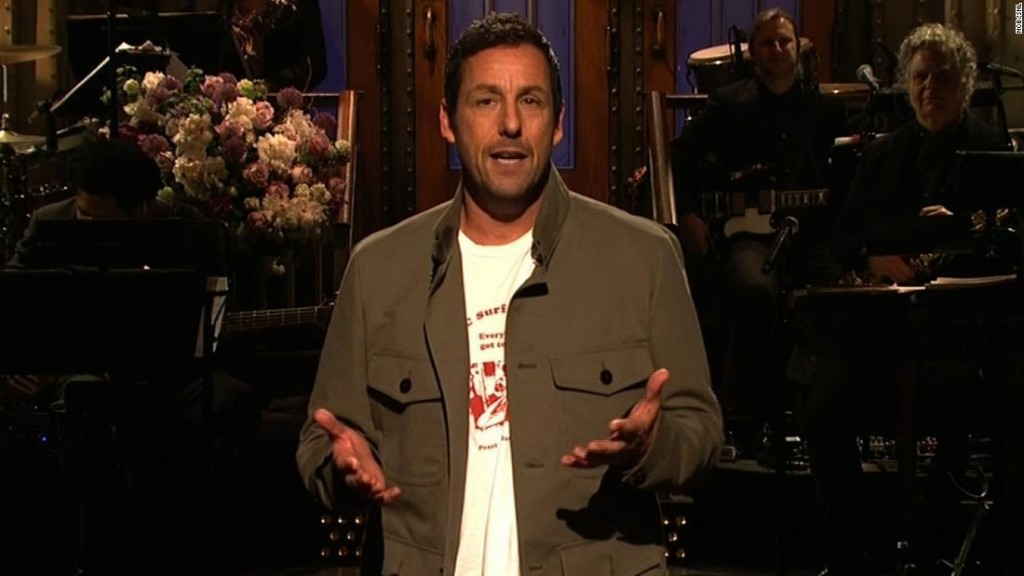 Adam Sandler returns to 'SNL' with a song about how he was fired