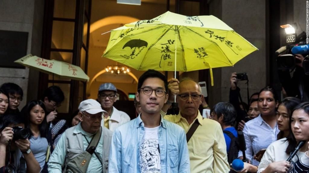 Pro-democracy leader Nathan Law leaves Hong Kong