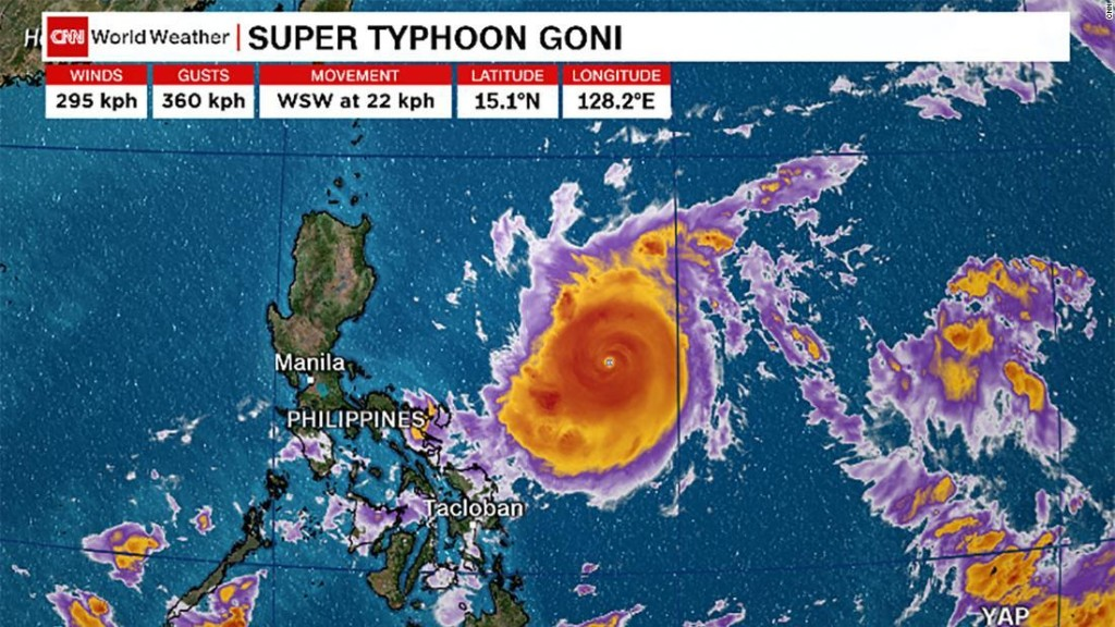 Philippines orders evacuation as world's strongest typhoon of 2020 approaches