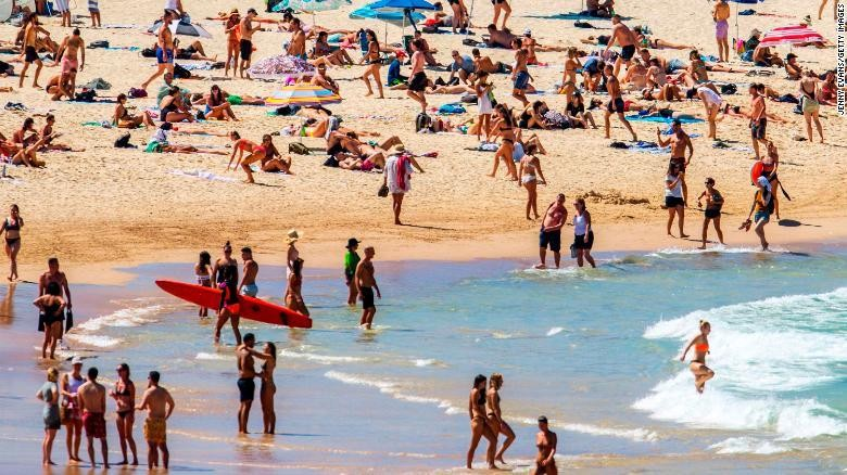 Australia closes beaches as Covid-19 lockdown continues over Easter