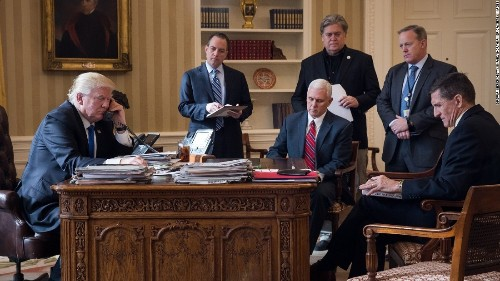 Everything is going great! in 1 amazing Trump administration picture
