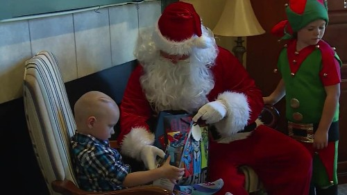 Boy with terminal cancer gets early Christmas