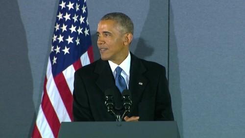 The Obamas say goodbye to Washington