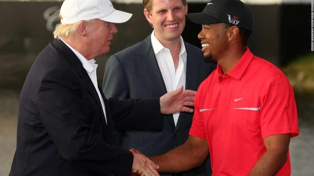 Tiger and Trump pair up for round of golf