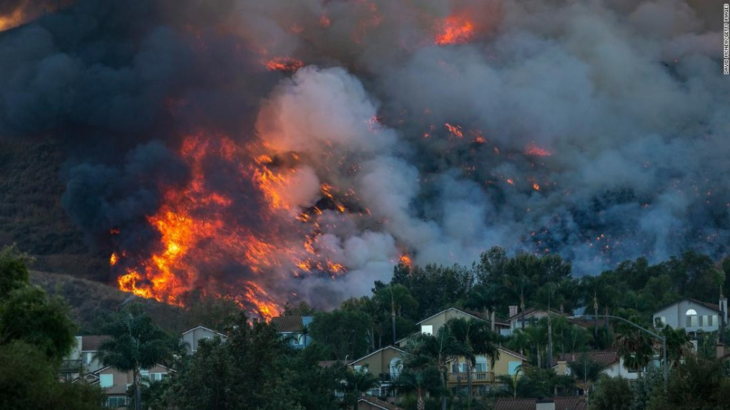Nearly 70,000 people under mandatory evacuation orders as two new wildfires in Southern California spread rapidly