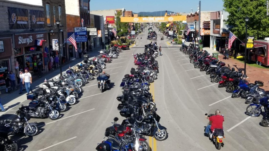 A motorcycle rally that brings thousands of tourists to a small South Dakota city is about to begin