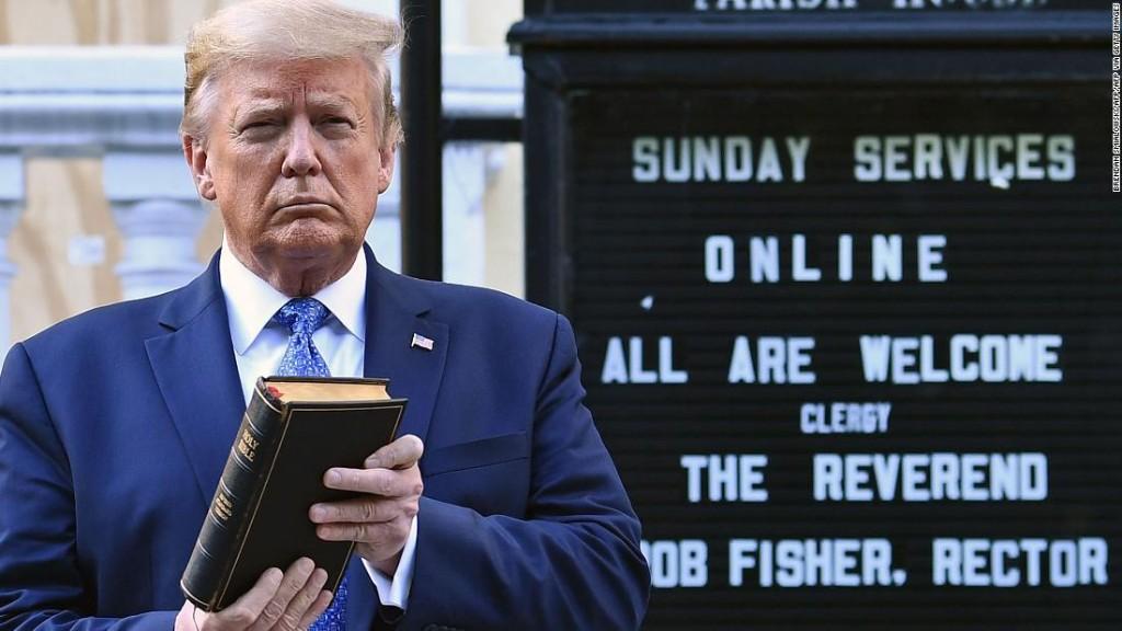 Internet mocks Trump's Bible photo-op