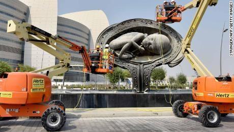 Damien Hirst's giant uterus sculptures re-emerge at Qatar hospital