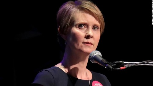 Cynthia Nixon calls Cuomo 'Andrew the Bully,' compares him to Trump