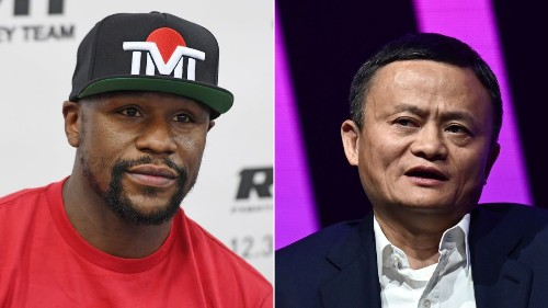With Manny Pacquiao's help, Alibaba founder Jack Ma challenges Floyd Mayweather to a fight