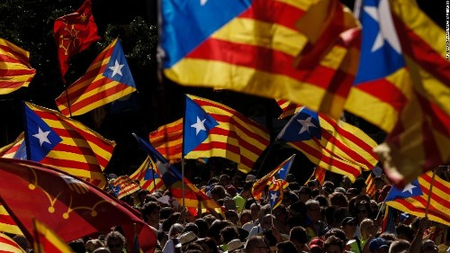 300,000 rally against Catalan independence as autonomy stripped