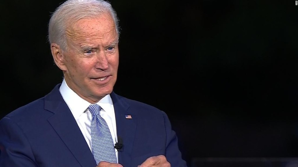 Biden gets angry talking about son during healthcare question