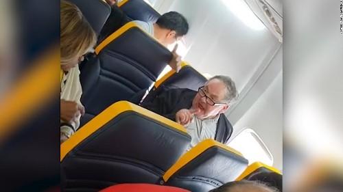 Police identify man filmed in racist rant on Ryanair flight