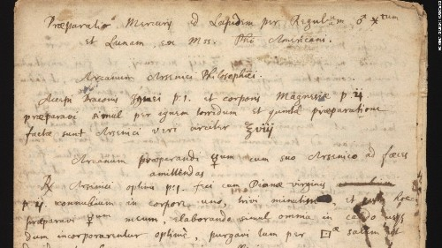 Isaac Newton's 'philosopher's stone' recipe discovered