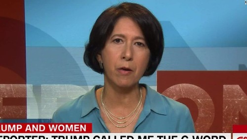Female reporter: Trump called me the c-word