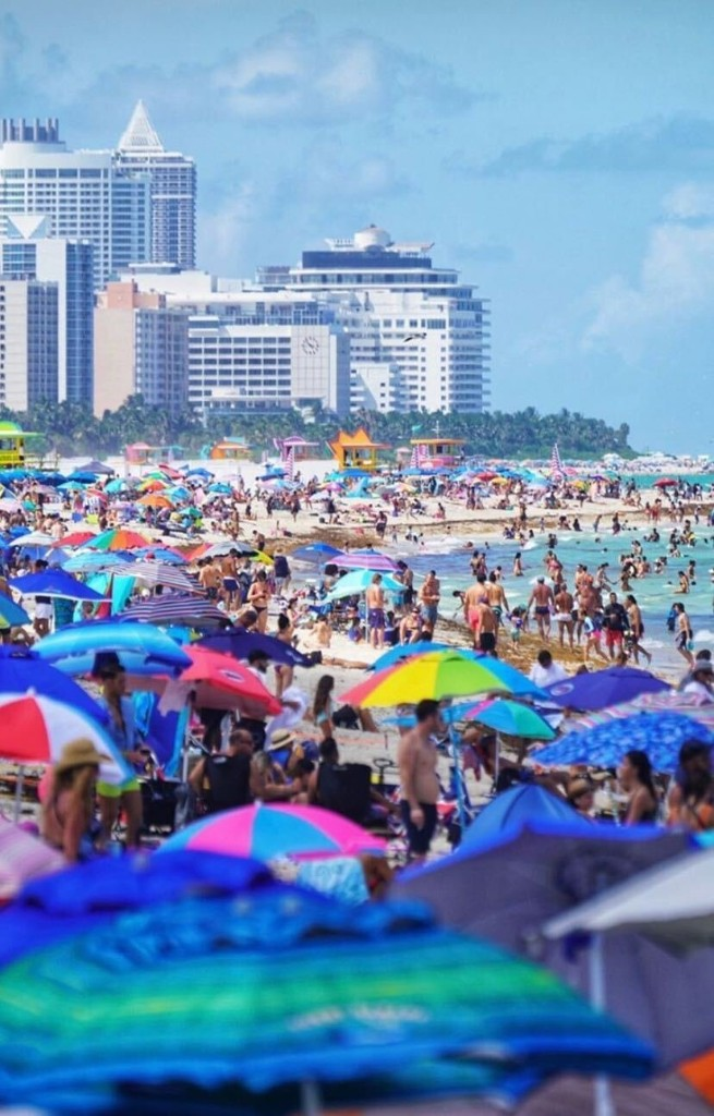 This is what Miami Beach looked like over the weekend
