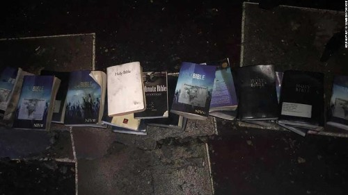 A devastating fire burned a church down. Not a single Bible was touched by the flames