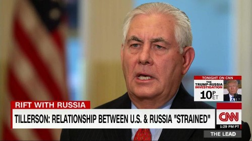 Transcript: CNN's exclusive interview with Rex Tillerson