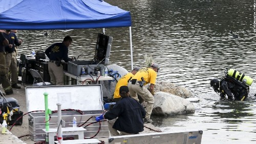 Items found in San Bernardino lake not related to attack, source says