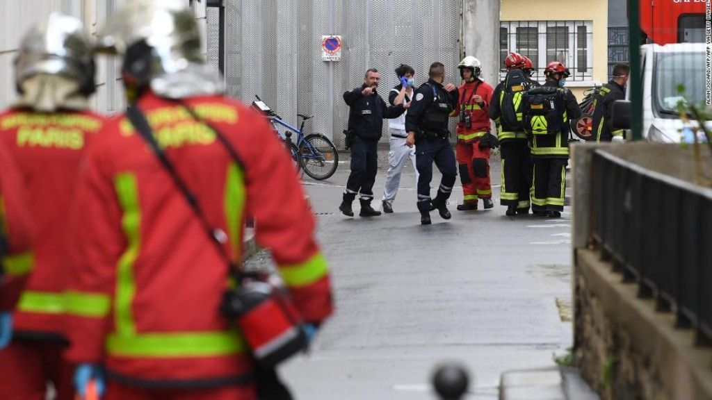 Two injured in Paris knife attack near Charlie Hebdo's former office