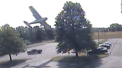 Plane crash-lands after slamming into tree