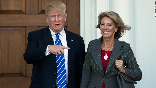 Senate Democrats to grill Trump education pick Betsy DeVos