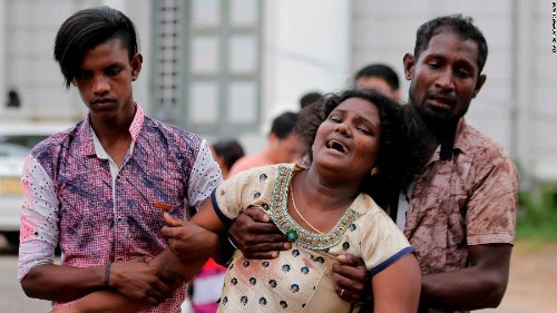 Bombs tear through Sri Lankan churches and hotels, killing 250 people