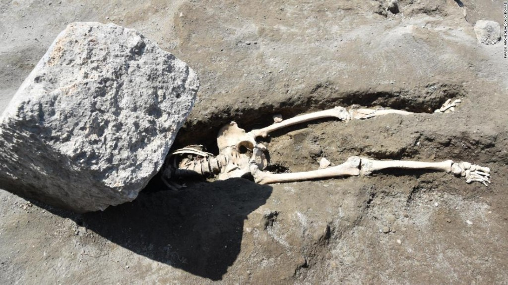 Archaeologists uncover remains of man crushed while fleeing Pompeii