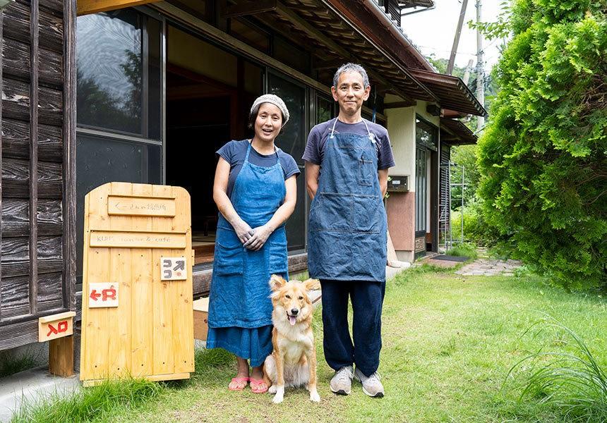 〈くーさんの焙煎所〉河津町に移住し、小さなカフェと藍染工房を開いた夫婦