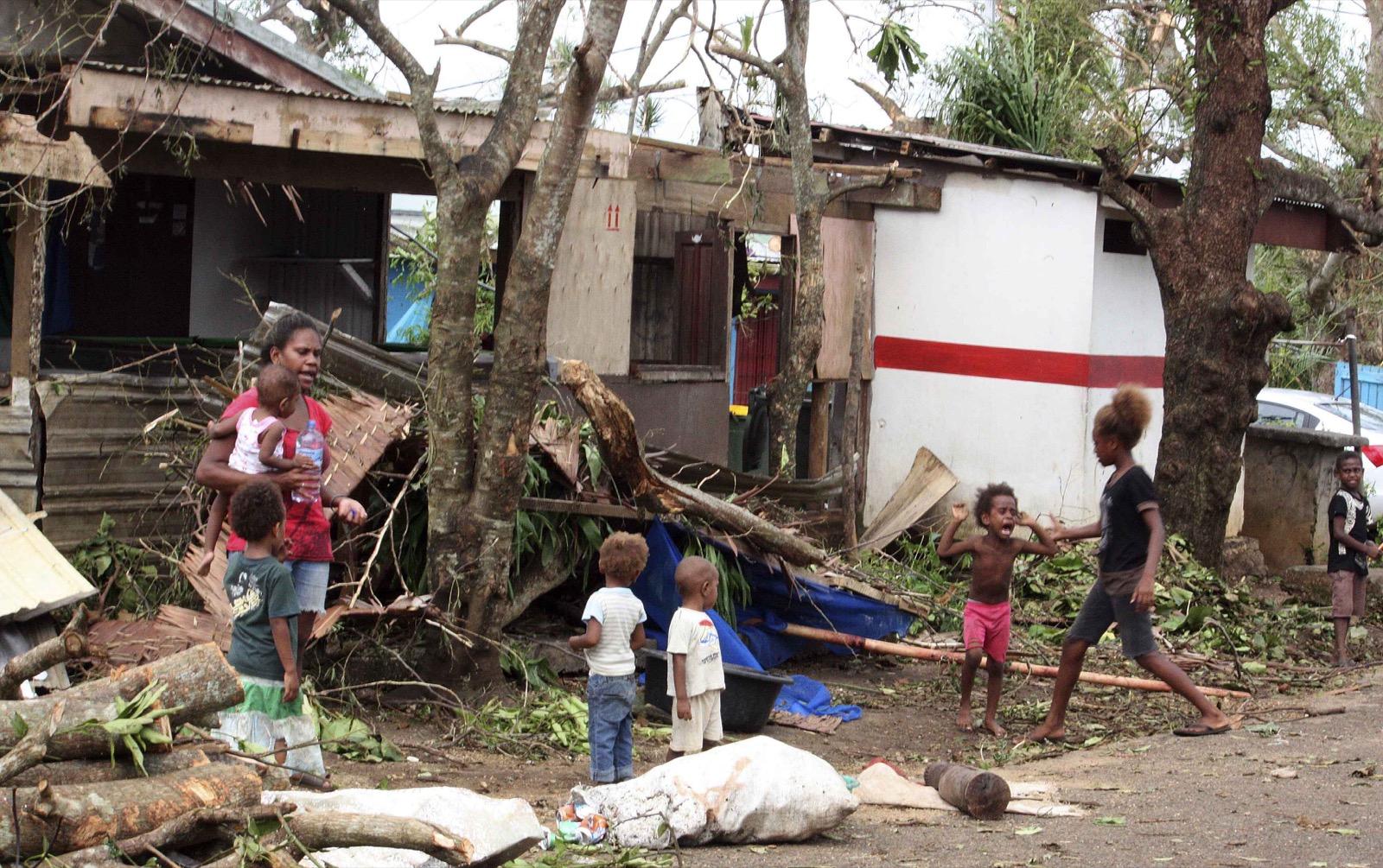 Cyclone Pam Smashes into Vanuatu: Pictures