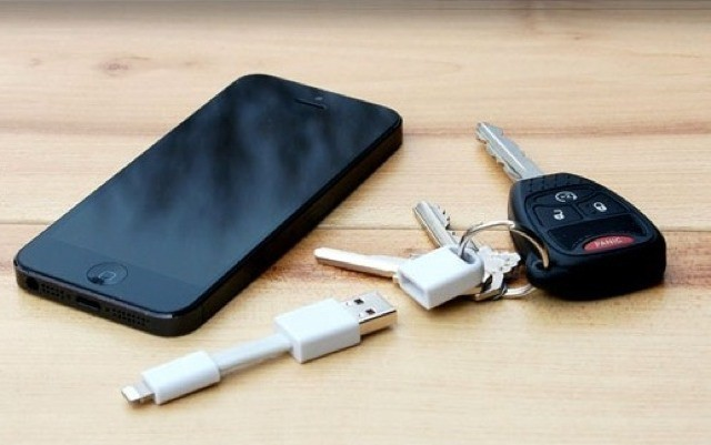 Nomad Is A Stubby Lightning Cable That Hangs Off Your Keychanin