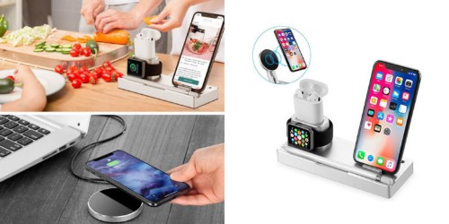 One wireless charging hub juices up four devices at once [Deals]