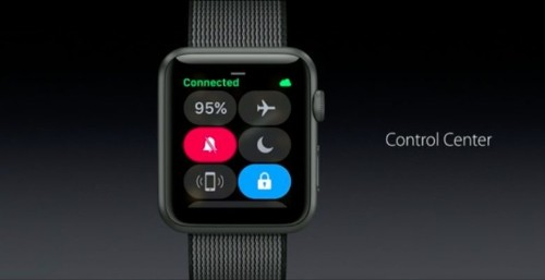 How to access the new Control Center on watchOS 3