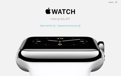 Apple.com is back with new redesign and page for Apple Watch
