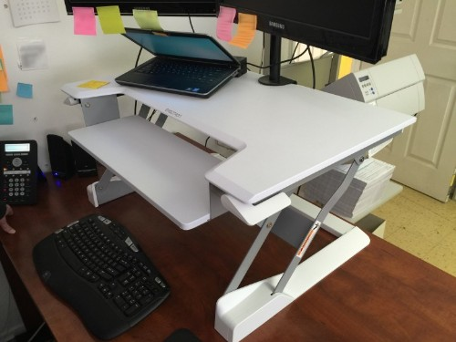 Transform your regular desk into a healthier standing one with this sturdy add-on