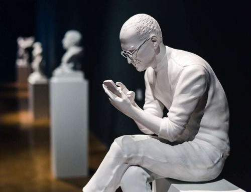 Steve Jobs part of sculpture series with dark view of tech's titans