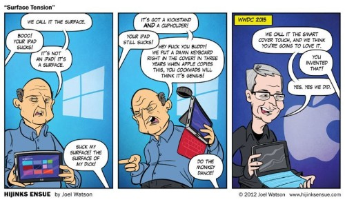 This 2012 comic predicted Apple would 'invent' the Surface Pro in 2015