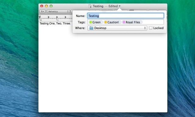 Change The Name, Tags, And Location From Any Document Title Bar In Mavericks [OS X Tips]