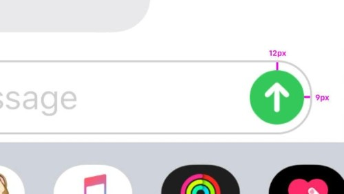 Designers can't 'unsee' iPhone's misaligned send message button