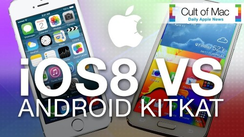 iOS 8 takes a bite out of KitKat for mobile supremacy
